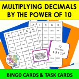 Multiplying by Powers of 10 Bingo