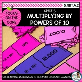Multiplying by Powers of 10- Math Center Activity and Prin