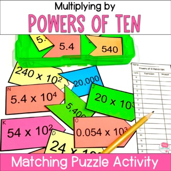 Multiplying by Powers of 10 Puzzles