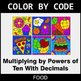 Multiplying by Powers of Ten With Decimals - Color by Code - Food