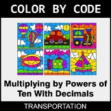 Multiplying by Powers of Ten With Decimals - Color by Code