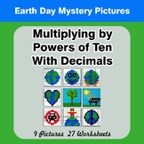 Multiplying by Powers of Ten With Decimals - Earth Day Color By Code