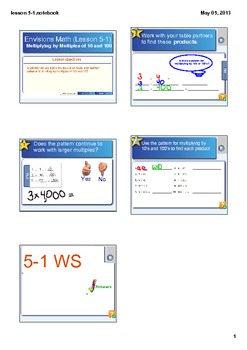 Multiplying by Tens and Hundreds Smart Board Lesson CCSS 4.NBT.5