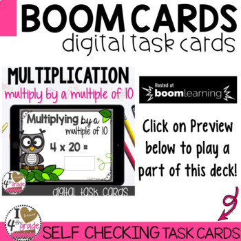 Multiplying by a Multiple of 10 Boom Cards