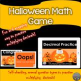 Multiplying decimals with the Jack-O-Lanterns