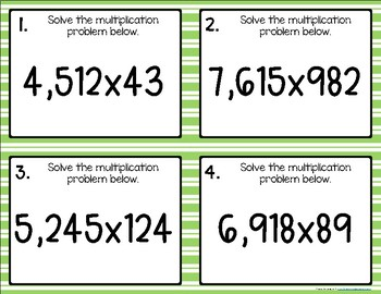 Multiplying {for Experts} Task Cards