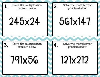 Multiplying {for Intermediates} Task Cards