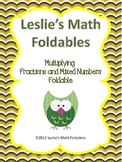 Multiplying fractions and Mixed Numbers Foldable for Interactive Notebook