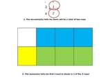Multiplying fractions and decimals using models