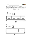 Multiplying fractions to Whole Numbers