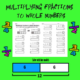 Multiplying fractions to whole numbers worksheet