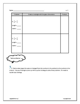 Multiplying fractions with models
