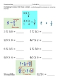 Multiplying fractions with whole numbers - Fracciones