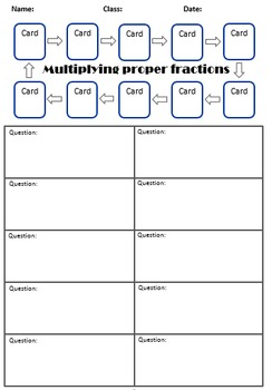 Multiplying fractions (proper) QR scavenger hunt