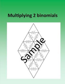 Multiplying 2 binomials – Math puzzle