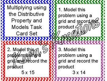 Multiplying using Distributive property & Models