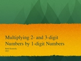 Multiplying with 2 & 3 digit numbers