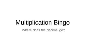 Multiplying with Decimals