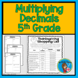 Multiplying with Decimals (Thanksgiving Dinner Shopping Activity)