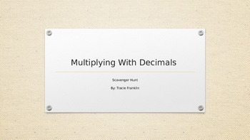 Multiplying with Decimals Whole Numbers