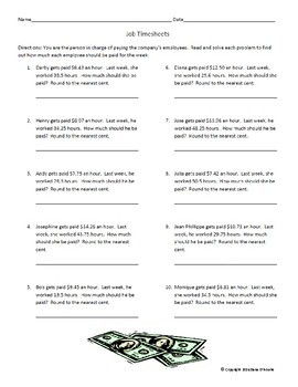 3 Multiplying with Decimals Word Problem Worksheets/Printables with Keys