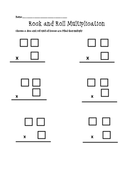 Multiplying with Dice