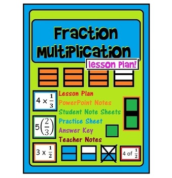 Fraction Multiplication Lesson {ppt, interactive student n