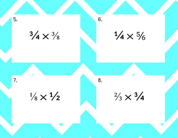 Multiplying with Fractions Task Cards