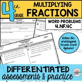 Multiplying Fractions Word Problems Real-World Differentiated Fractions Practice