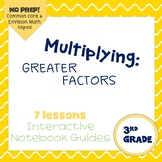 Multiplying with Greater Factors (enVision Topic 18) Interactive Notebook