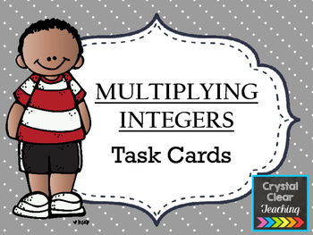 Multiplying with Integers Task Cards