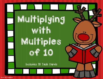 Multiplying with Multiples of 10 (Christmas Theme}