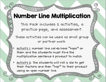 Multiplying with Number Lines Pack