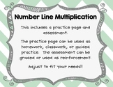Multiplying with Number Lines Practice & Assessment