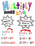 Multiplying with Zero's Poster