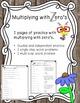 Multiplying with Zero's Practice