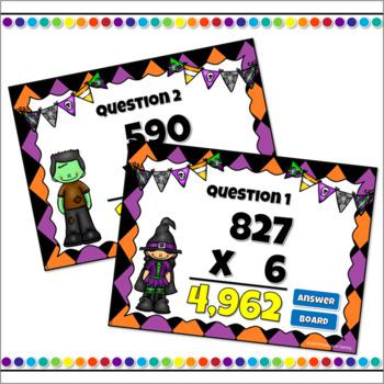 Multiplying 3 Digit  by 1 Digit Number Powerpoint Game