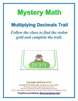 Multiplying Decimals Trails Activity; Spy School, Complete Set