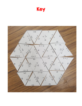 Multiplying and Dividing Integers Puzzle
