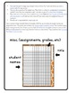 Multipurpose Checklists for Classroom Management gradebook,assign.,data EDITABLE