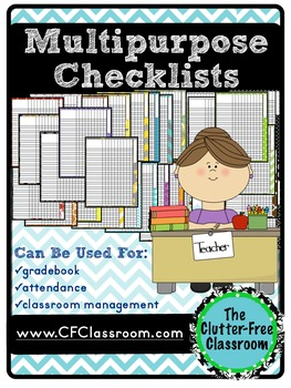Multipurpose Checklists for Classroom Management gradebook