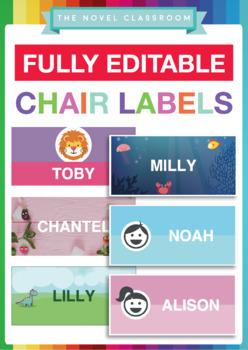 Multipurpose Editable Labels - 6 different designs