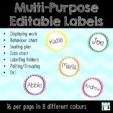 Multipurpose Editable Labels / Name tags