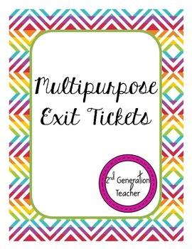 Multipurpose Exit Tickets