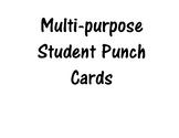 Multipurpose Student Punch Card