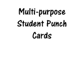 Multipurpose Student Punch Card