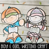 Multipurpose Writing Craftivity of a Boy and Girl