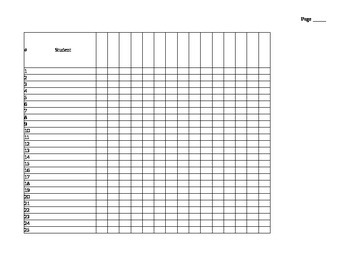 Multipurpose checklist for classroom
