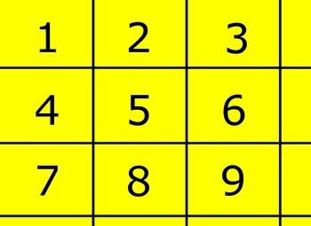 Multipurpose numbers 1-9