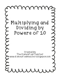 Multipying and Dividing by Powers of 10